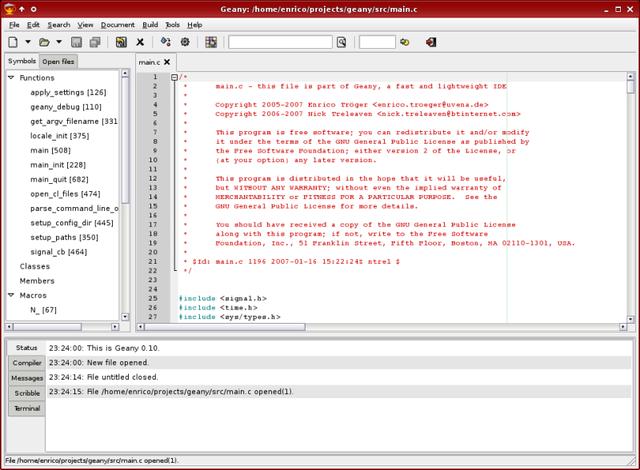 Geany 1.23.1 发布,小巧的代码编辑器