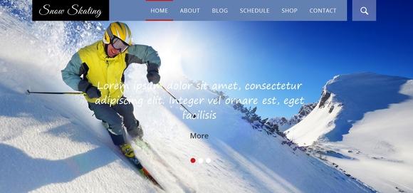 Snow Skating - free html5 templates