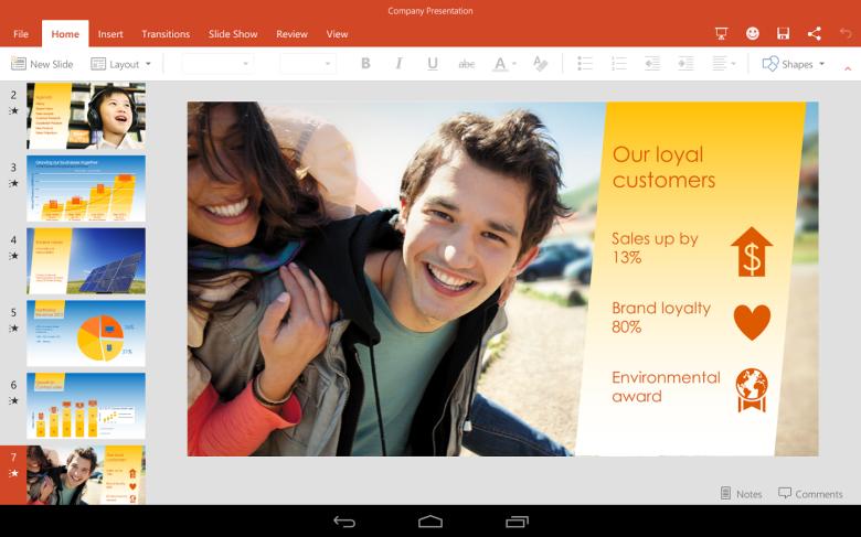 微软宣布开放Android平板Office套件下载