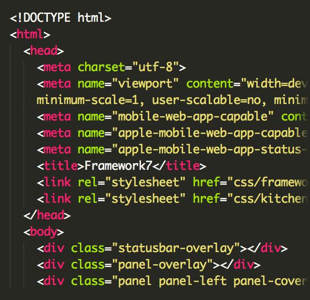 Web移动端框架:Framework7