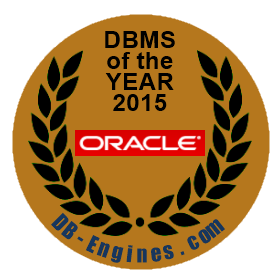 DB-Engines:Oracle 是 2015 的年度 DBMS
