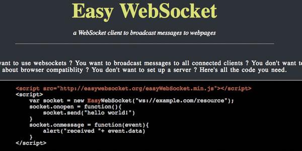 EasyWebSocket - 封装了 WebSocket API 的 JavaScript 库