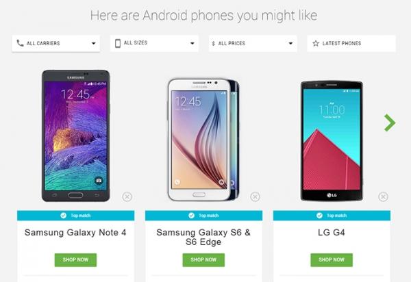 谷歌谷歌告诉我:哪款Android手机最适合?