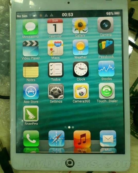 超强山寨iPad mini曝光:能通话