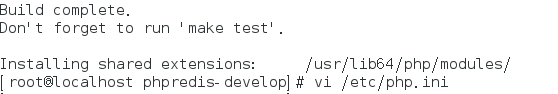 Redis在Centos7下安装,与phpredis扩展安装