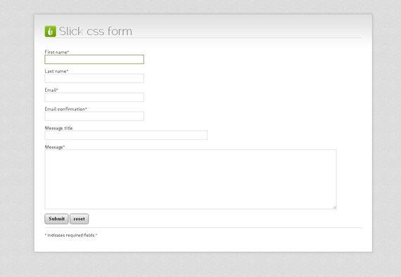 30 个实用的 HTML5 + CSS3 表单设计