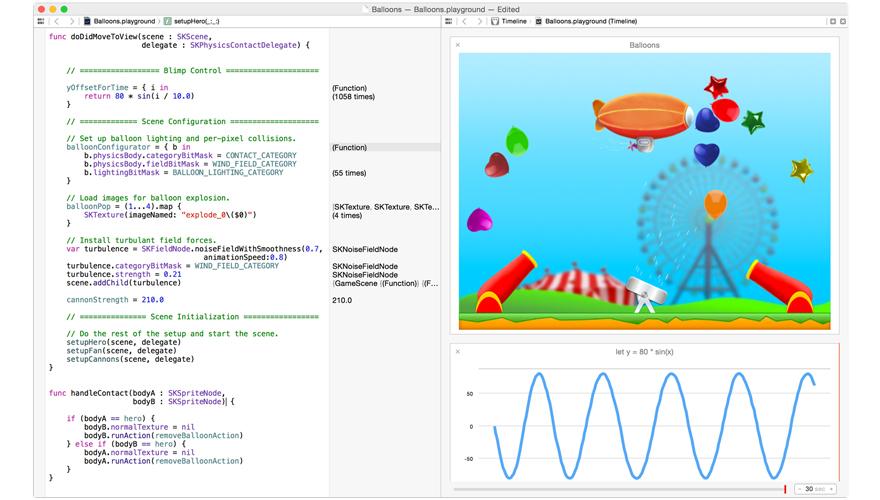 苹果发布 Swift 编程语言,支持代码效果实时预览