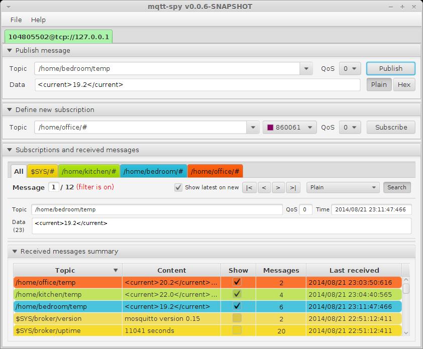MQTT 客户端工具:mqtt-spy