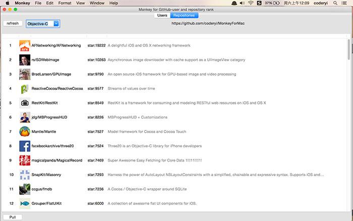 GitHub 第三方 Mac 客户端:MonkeyForMac