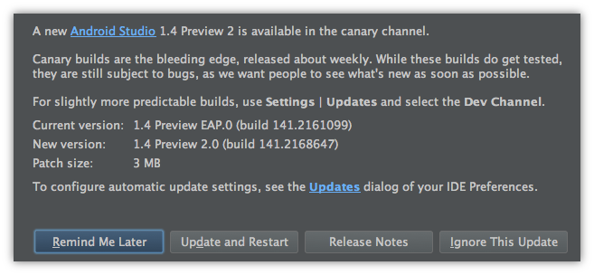 Android Studio 1.4 Preview 2 发布