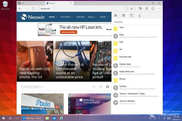 Windows 10 Insider Preview Build 10074界面抢先看