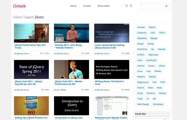 学习jQuery的免费资源:电子书、视频、教程和博客