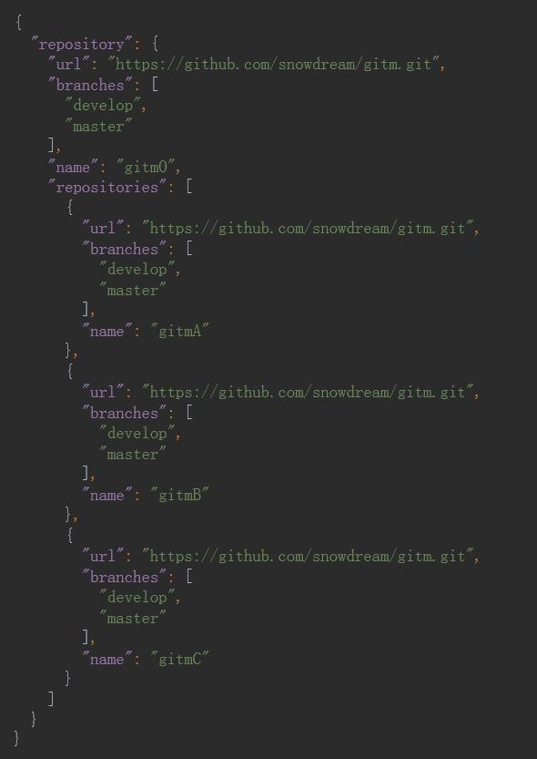 Git多仓库管理工具 node-gitm