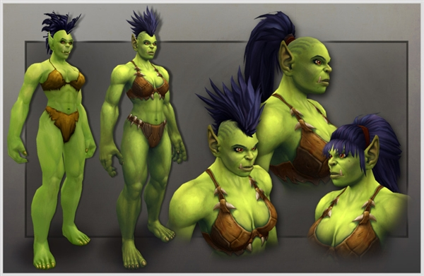 《魔兽世界》新女兽人模型放出 精致女汉子