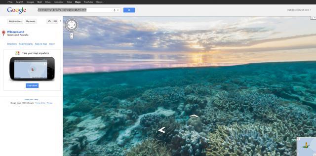 """谷歌地图""""海底街景""""一起去海底遨游吧"""