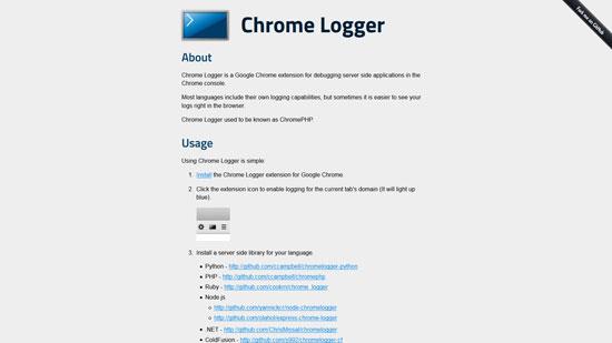 Chrome Logger