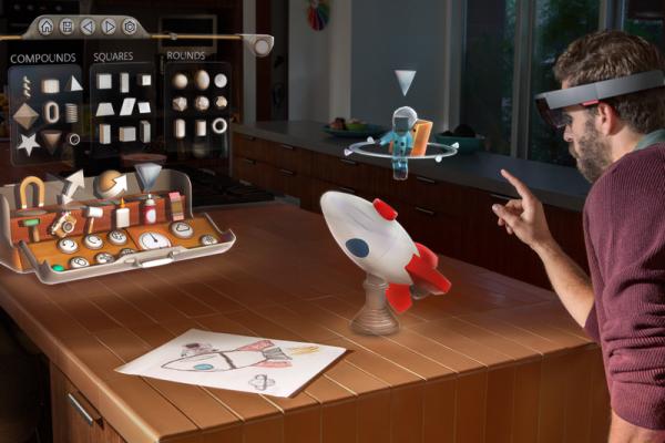 微软在纽约旗舰店展示HoloLens全息眼镜