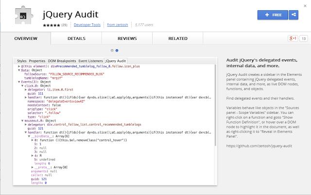 针对jQuery的5个Chrome浏览器扩展