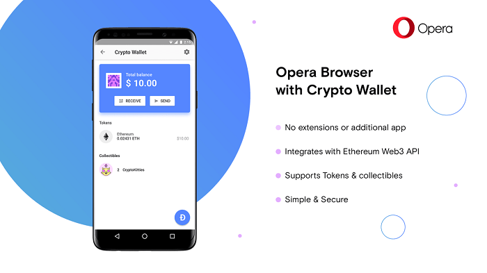 Opera拓展加密货币工具套件 内建一款数字钱包