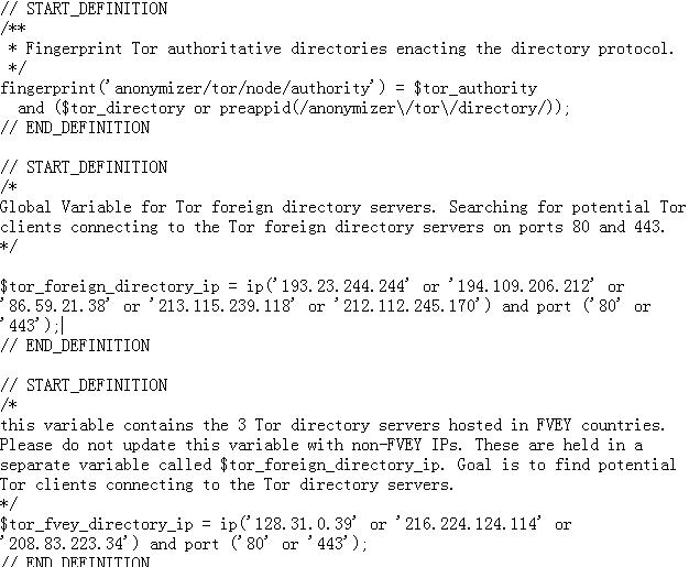 源代码显示NSA将Tor服务器作为目标