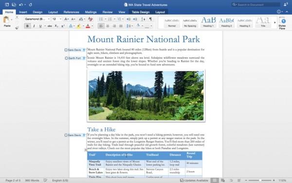 Mac 版 Office 2016 正式发布,独立版要到 9 月