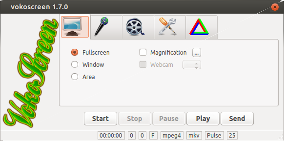 屏幕录像软件:vokoscreen