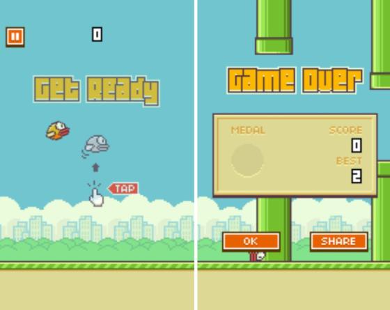 开发者阮哈东压力过大 Flappy Bird游戏今天下线