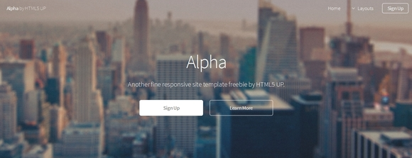 Alpha - free website templates