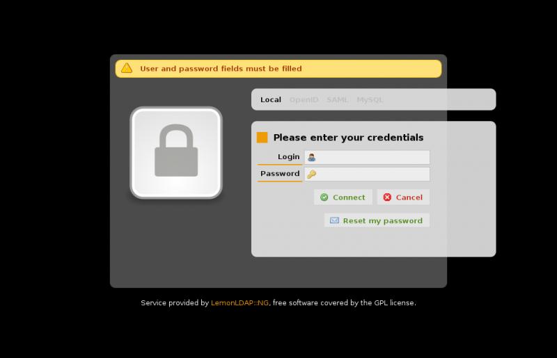 Web单点登录模块 LemonLDAP::NG