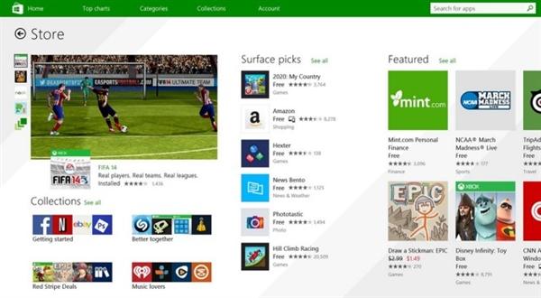 Windows Store全新界面正式发布