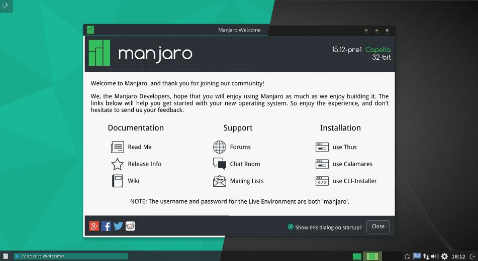 Manjaro 15.12 preview1 发布