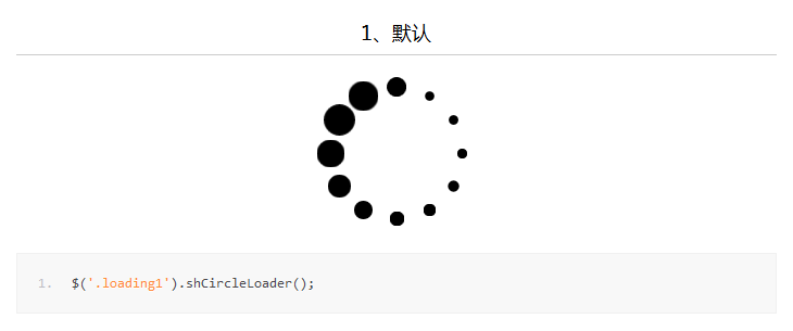 实现页面 Loading 效果的jQuery插件:shCircleLoader